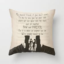 the nightmare before christmas throw pillow cover jack and sally