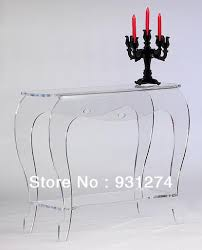 Console Tables Cheap by Decor High Lucite Console Table With Unique Legs