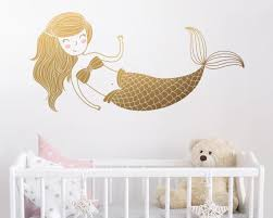 Removable Wall Decals For Nursery Mermaid Wall Decal Room Decal Nursery Decal