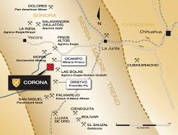 Chihuahua Mexico Map by Corona Polymetallic Project Comstock Metals Ltd
