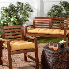 cushion walmart outdoor cushions patio bench with cushions