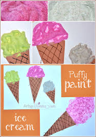 i is for ice cream letter of the week craft u0026 puffy paint recipe