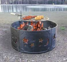 Firepit Menu Grilling Pit Showing The Cooking Grill Attached The Wildlife