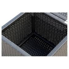 newport outdoor wicker storage ottoman black abbyson living
