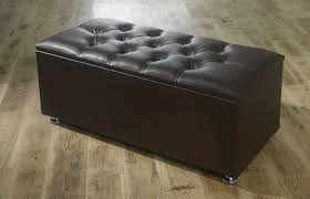 Faux Leather Ottoman New Ottoman Storage Blanket Box In Faux Leather