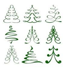 graphic set of trees vector graphic free