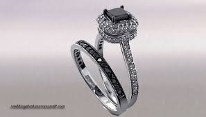 black wedding sets black diamond wedding rings sets for fearless women wedding and