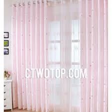 Cheap Girls Curtains Pink Princess Romantic Kids Cheap Organic Cute Window Curtains