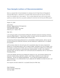Sample Reference Letter For Employment Template Sample Recommendation Letter For Mba From Employer The Letter Sample