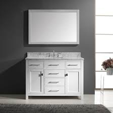 Inch White Bathroom Vanity With Top Kahtany - White 48 inch bath vanity
