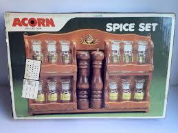 Vintage Wooden Spice Rack Spice Racks Jars Kitchen Kitchenware Men