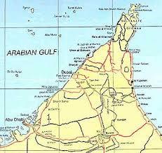 map of the uae united arab emirates