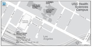Los Angeles Metrolink Map by Usc Health Sciences Campus Los Angeles
