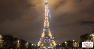 eiffel tower light show eiffel tower celebrates 300 million visitors with stunning light