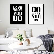 nordic home minimalist black white motivational love quote poster prints