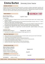 Sample Resume For Teaching Profession by Resume Example Teacher Buy Original Essay Resume Sample Special