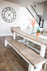 bench rustic dining bench emphatic extending farmhouse table