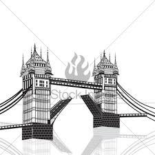 tower bridge vector gl stock images