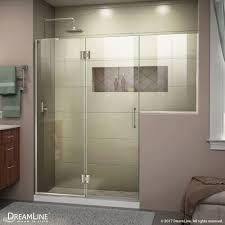 24 Frameless Shower Door Dreamline Unidoor X 56 56 5 W X 72 H Hinged Shower Door V