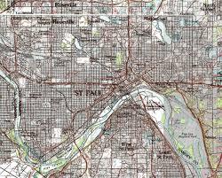 minnesota topographic map guide to st paul minnesota