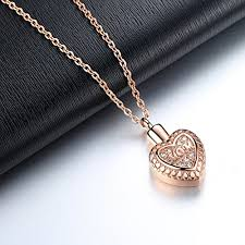 cremation necklaces molike stainless steel in heart cremation necklace ashes urn