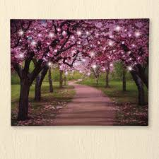 outdoor lighted cherry blossom tree lighted cherry blossom trees canvas from collections etc