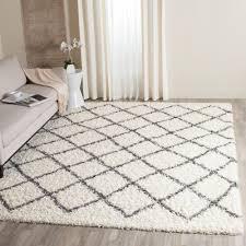 safavieh dallas shag ivory dark gray 6 ft x 9 ft area rug