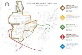 Western Michigan Map by Western Michigan University Bronco Transit Redesign On Behance