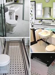 black and white bathroom tile ideas black and white tile bathrooms done 6 different ways retro