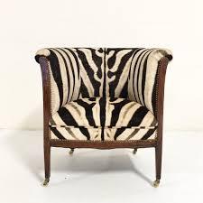 vintage 1930s barrel chair in zebra hide u2013 forsyth