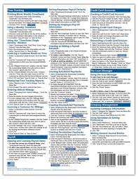 quickbooks pro 2015 quick reference training card laminated