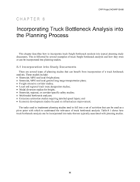 chapter 8 incorporating truck bottleneck analysis into the