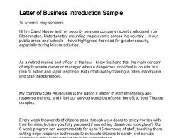 introduction letter sample for new business the letter sample