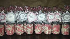 bridal shower or baby shower baby food jar party favors