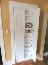 narrow depth kitchen storage cabinet a shallow pantry cabinet in place of the pre existing