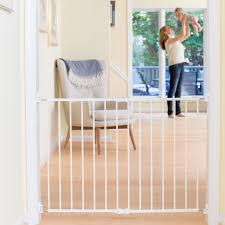 baby gate for top of stairs with baseboard decoration