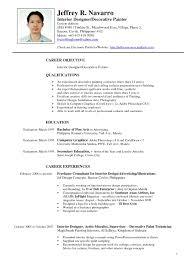 Sample Resume For Web Designer Fresher by Breathtaking Interior Designer Sample Resume Sample Resume Outline