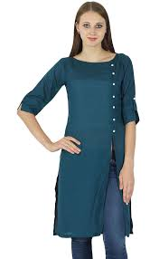 designer indian bollywood kurta women cotton solid kurti casual