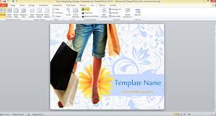 free shopping design template for powerpoint 2013