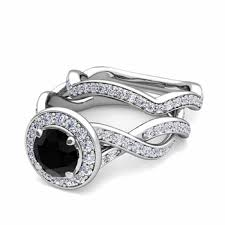 black diamond bridal set platinum bridal set infinity black diamond engagement ring 7mm