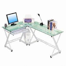Glass Corner Desks China Glass Corner Desk With Tempered Glass Tabletop And Pull Out