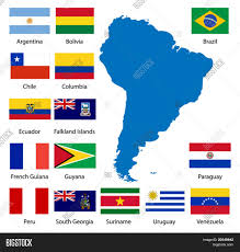 America Del Sur Map by Detailed South American Flags And Map Manually Traced From Public