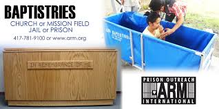 portable baptistry portable baptistries arm prison outreach