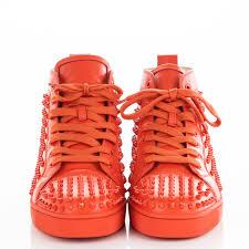 christian louboutin calfskin louis spikes flat mens sneakers 44 5