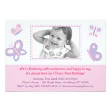 pink purple butterfly birthday invitations u0026 announcements