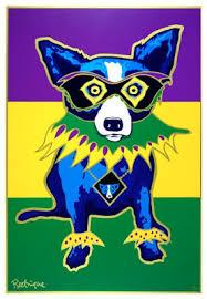 mardi gras dog musings of an artist s mardi gras silkscreens a history