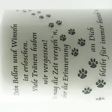 trauersprüche für schleifen gedenklicht hund mit trauerspruch tagebrenner 1 stück