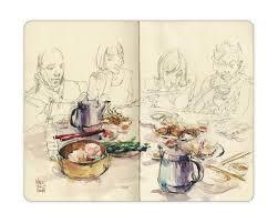 sunday sketching april 26 dim sum lunch urban sketchers montreal