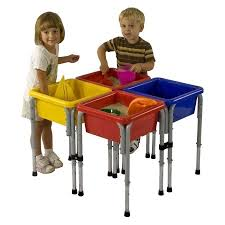 sand and water table with lid 4 station square sand water table with lids walmart com
