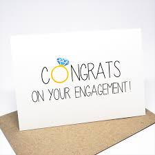 congratulations on engagement card engagement card congratulations congrats with diamond ring